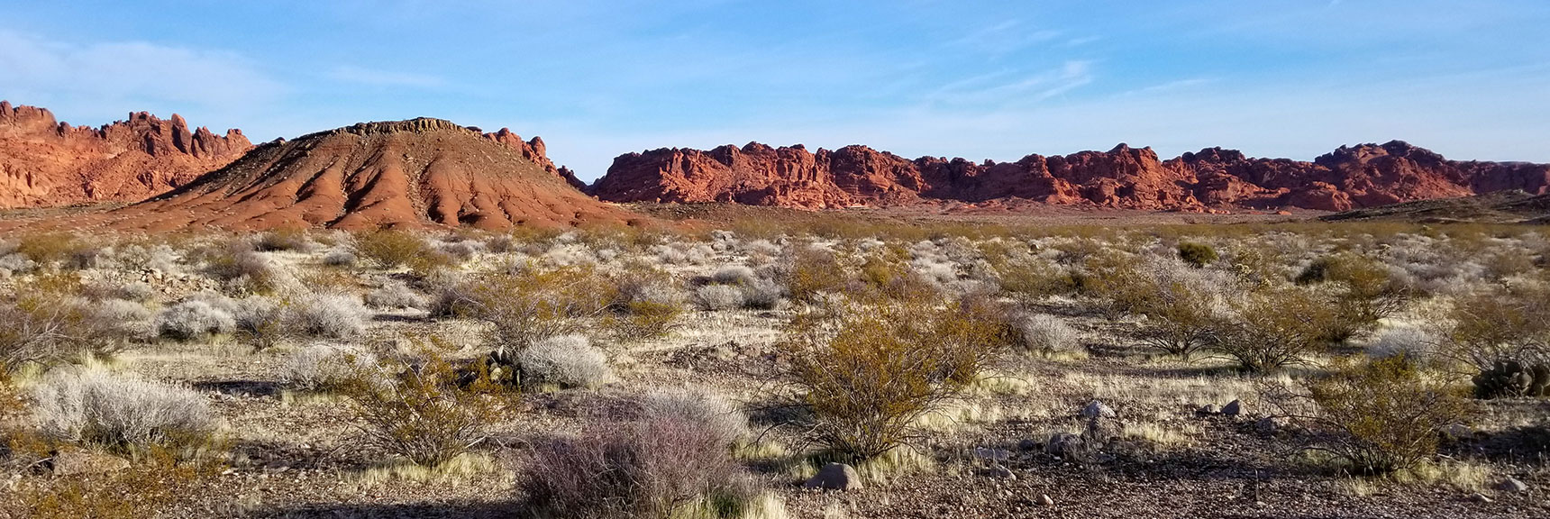 View Northeast Along Red Rock Hills from Old Arrowhead Trail in Valley of Fire State Park, Nevada
