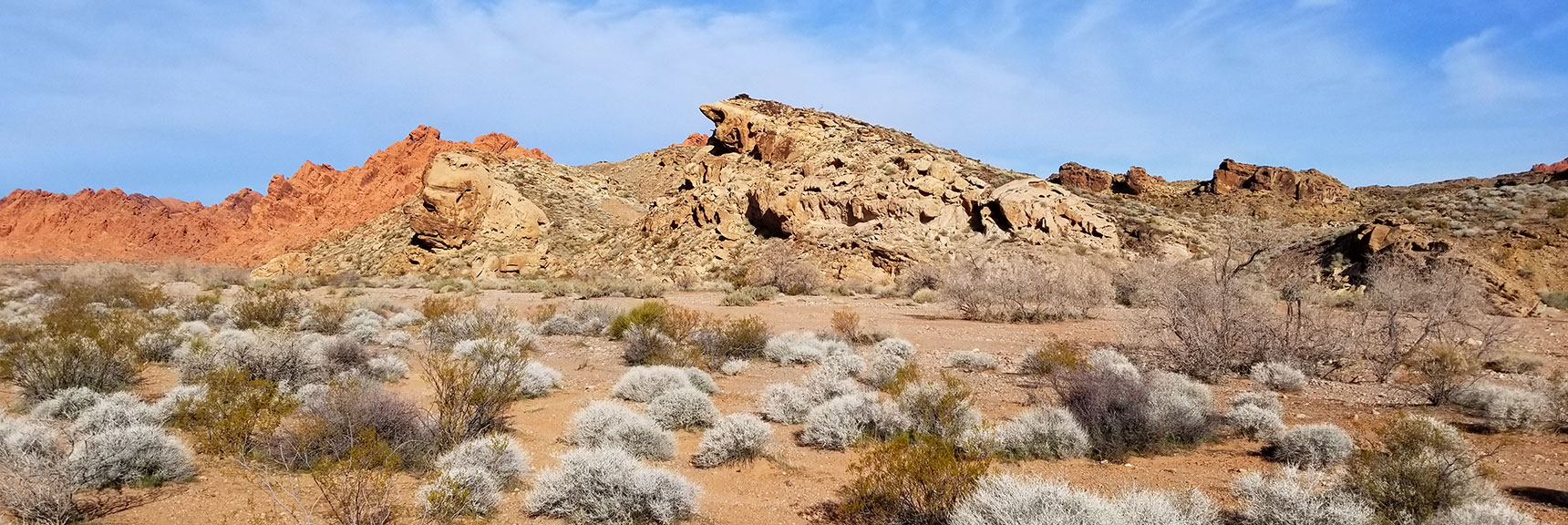 Rock Formations in the Eastern Area Wash on Old Arrowhead Trail in Valley of Fire State Park, Nevada
