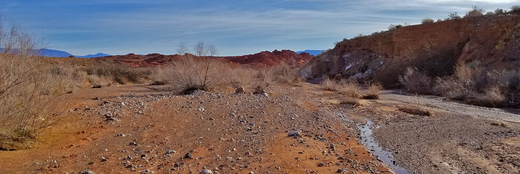 Traveling East Down Wash Beyond Old Arrowhead Trail in Valley of Fire State Park, Nevada