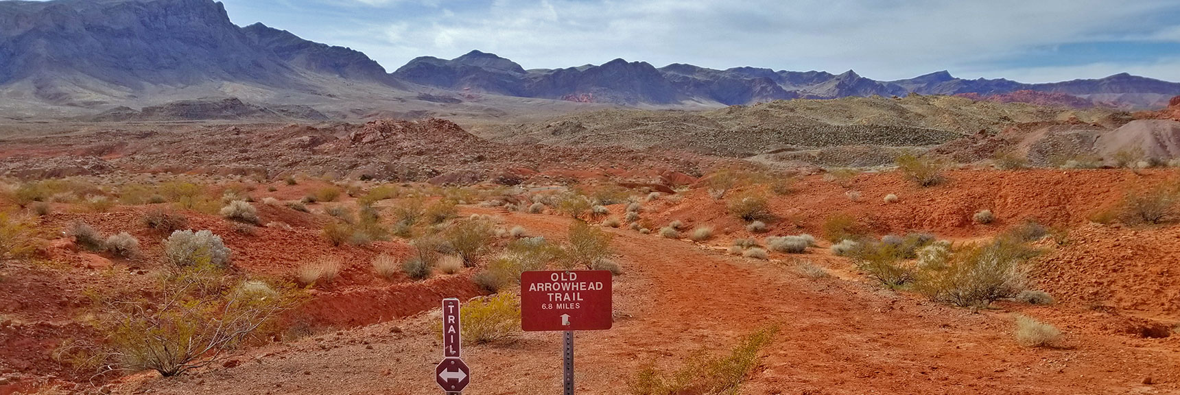 Returning to the Western Trailhead of Old Arrowhead Trail in Valley of Fire State Park, Nevada