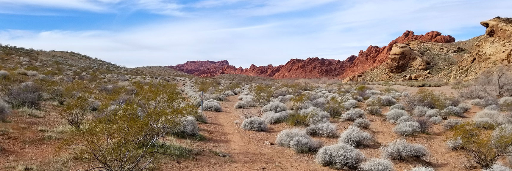 Heading Back West on the Old Arrowhead Trail in Valley of Fire State Park, Nevada