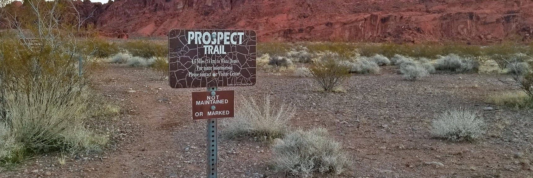 South Trailhead for Prospect Trail in Valley of Fire State Park, Nevada