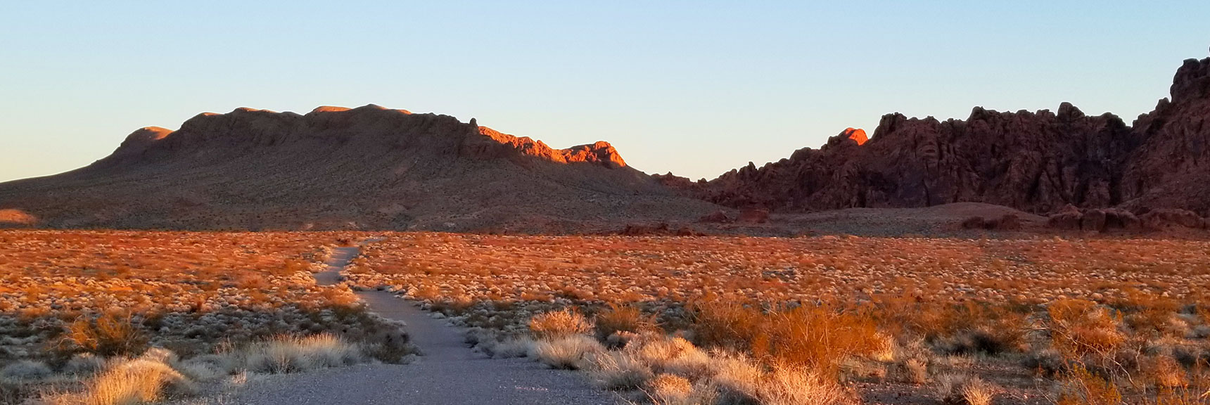End of the Graded Road for Prospect Trail in Valley of Fire State Park, Nevada