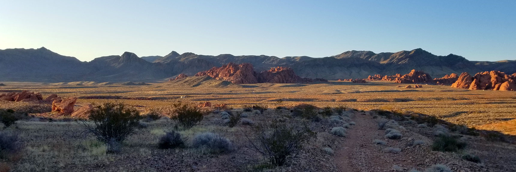 Looking Back Toward Atlatl Rock from the Pass at Prospect Trail in Valley of Fire State Park, Nevada