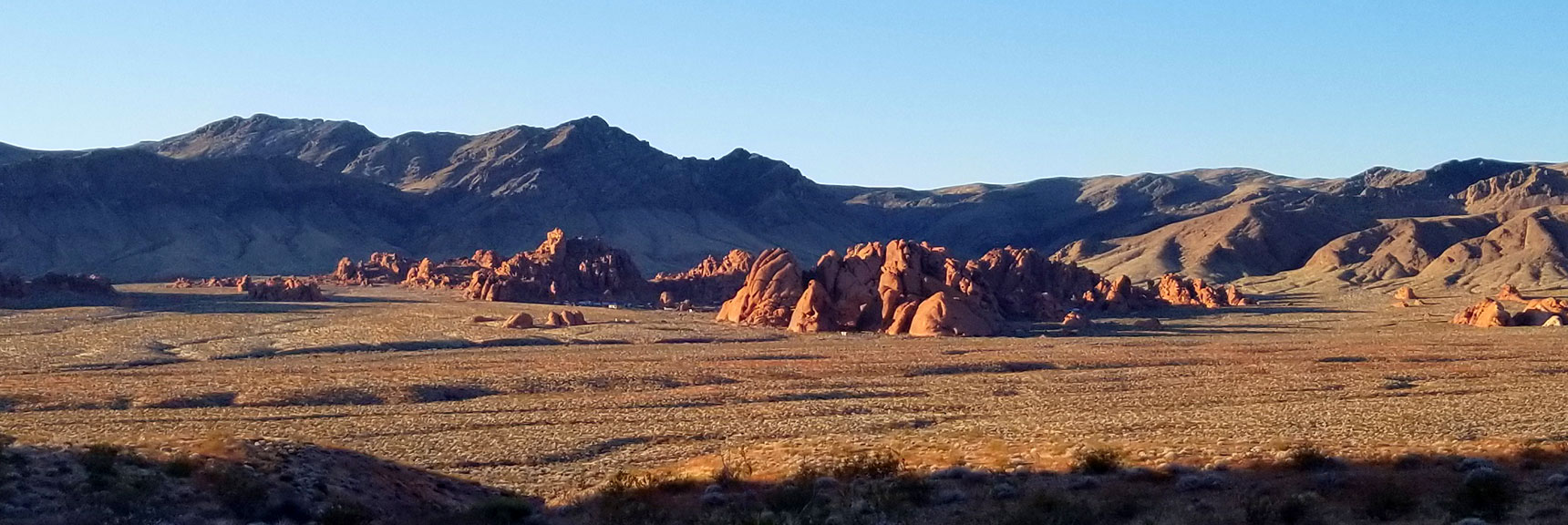 Looking Back Toward Atlatl Rock from the Pass on Prospect Trail in Valley of Fire State Park, Nevada