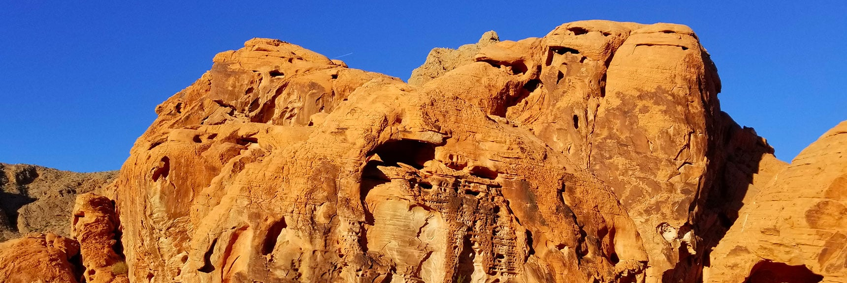 Bizarre Rock Formations in the Upper Pass on Prospect Trail in Valley of Fire State Park, Nevada
