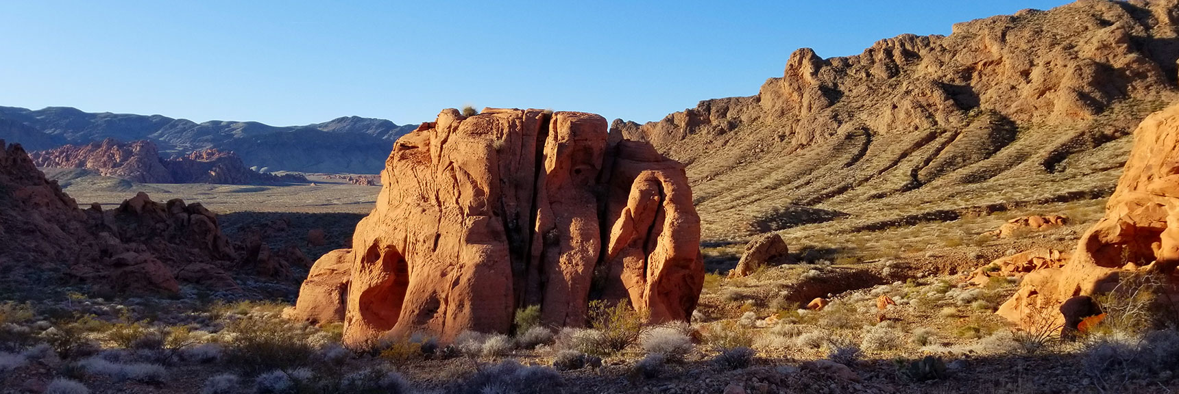 Looking Back South from the Upper Pass on Prospect Trail in Valley of Fire State Park, Nevada