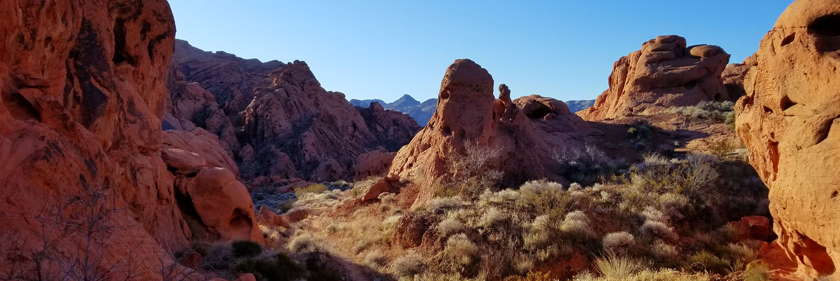 Looking Back South Through the Upper Pass on Prospect Trail in Valley of Fire State Park, Nevada