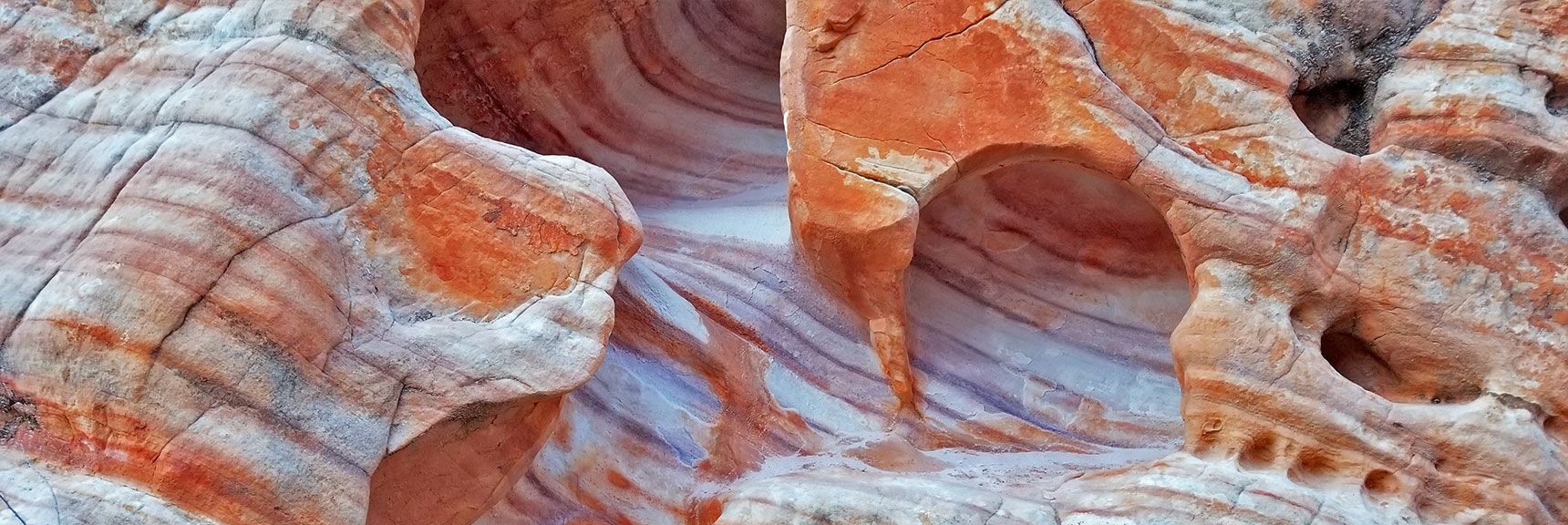 Colorful Rock Formations in the Northern Canyon Wash on Prospect Trail in Valley of Fire State Park, Nevada