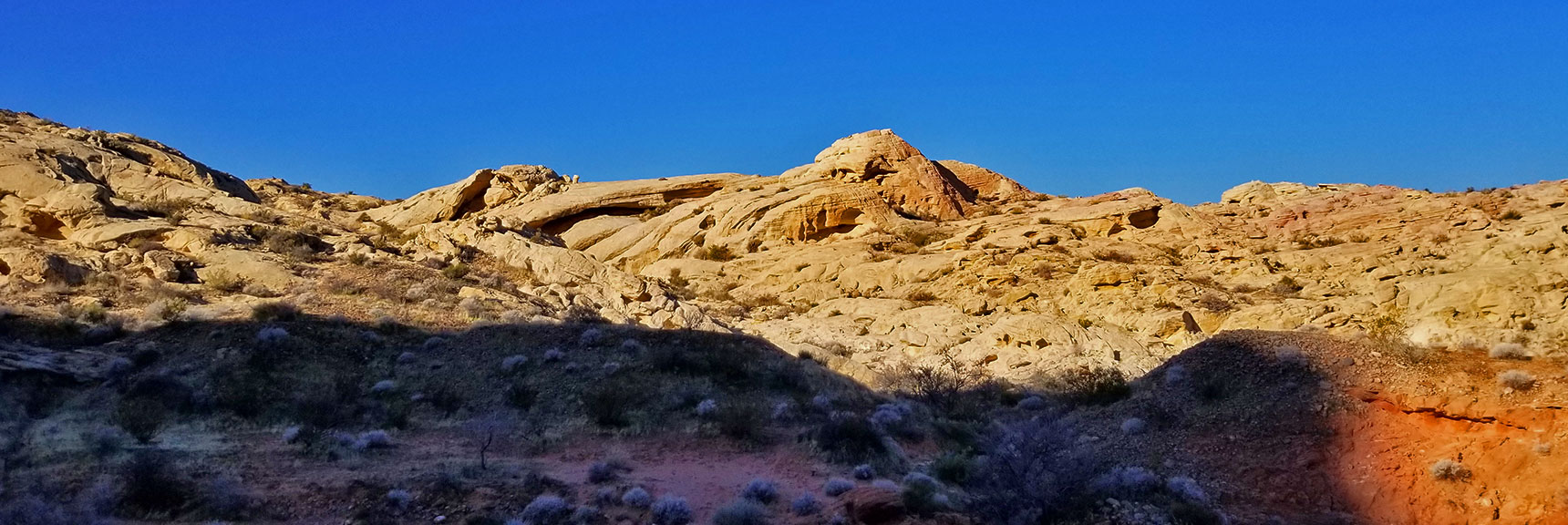 Red Canyon Turning White on the Northern Portion of Prospect Trail in Valley of Fire State Park, Nevada