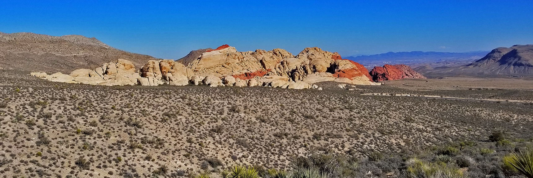 Red Rock National Park View of Calico Hills from Top of Scenic Drive