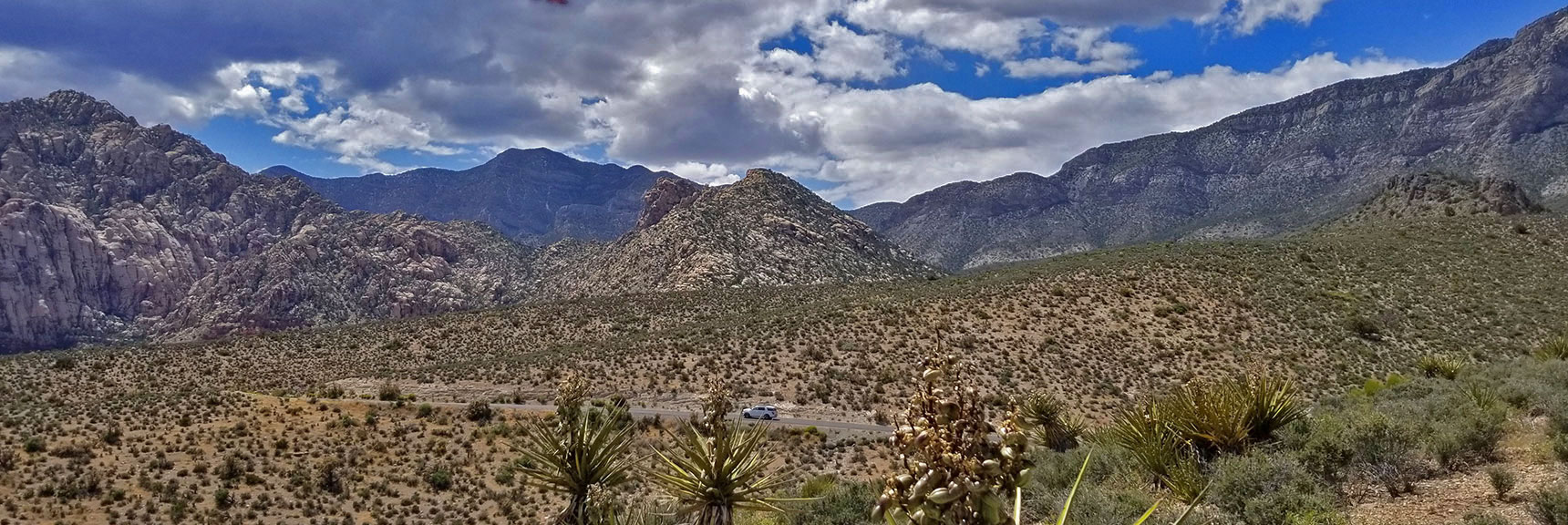 Red Rock National Park View of White Mountain from Top of Scenic Drive