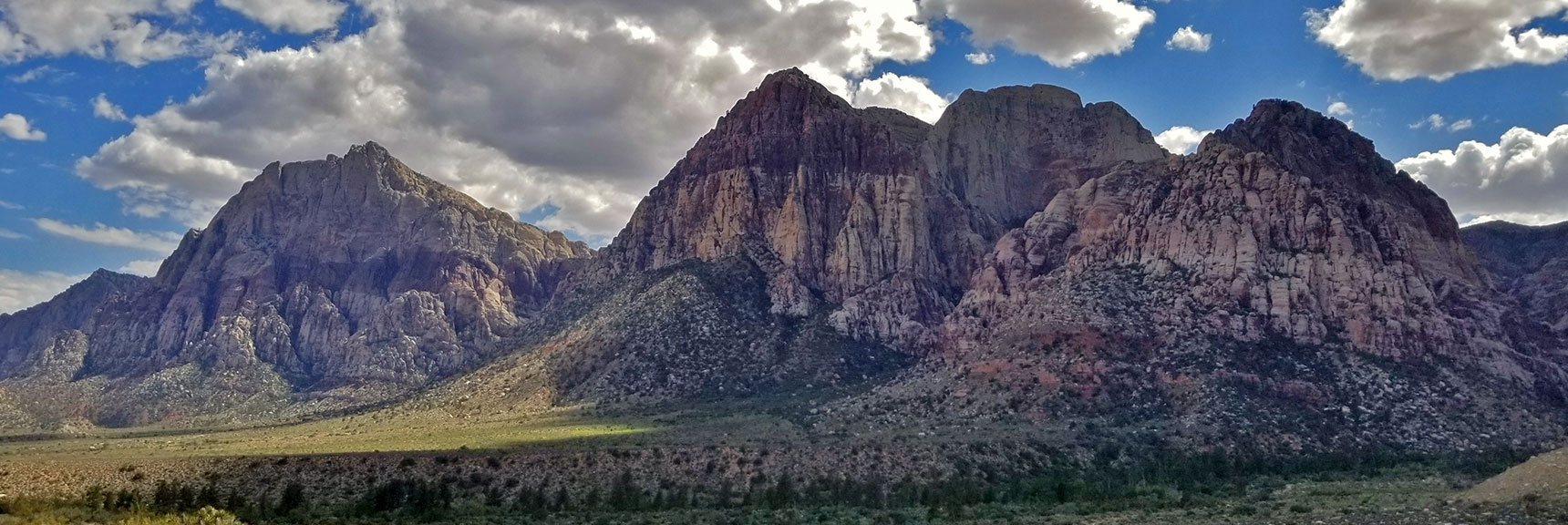 Red Rock National Park View of Mt. Wilson, Rainbow Mountain and Juniper Peak from Pine Creek Canyon Turnout