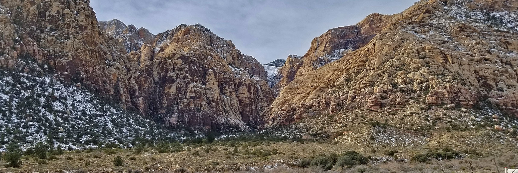 Red Rock National Park View of Ice Box Canyon from Scenic Drive