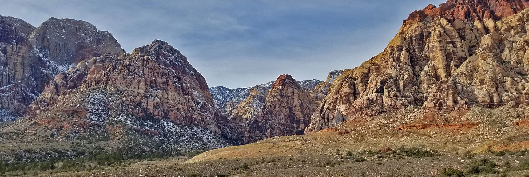 Red Rock National Park View of Pine Creek Canyon from Scenic Drive