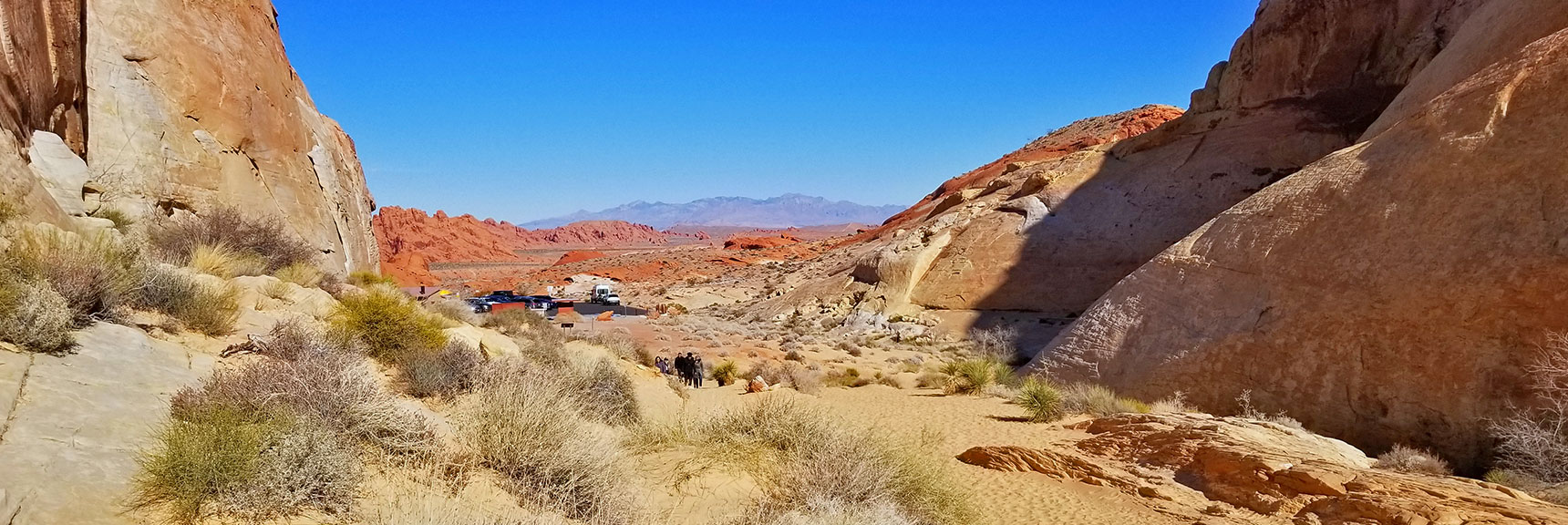 Looking Back Toward the Trailhead for White Domes Loop Trail in Valley of Fire State Park, Nevada