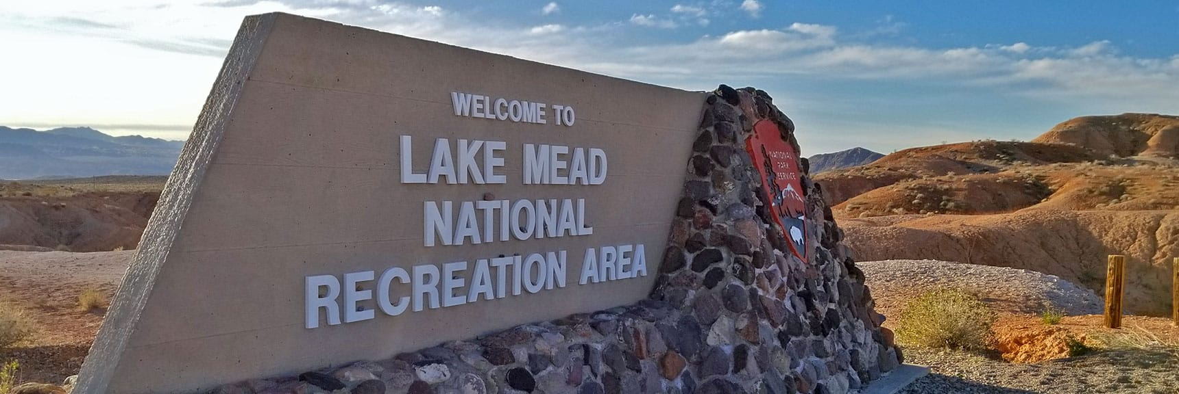 North Entrance of Lake Mead National Park, Nevada from Northshore Road