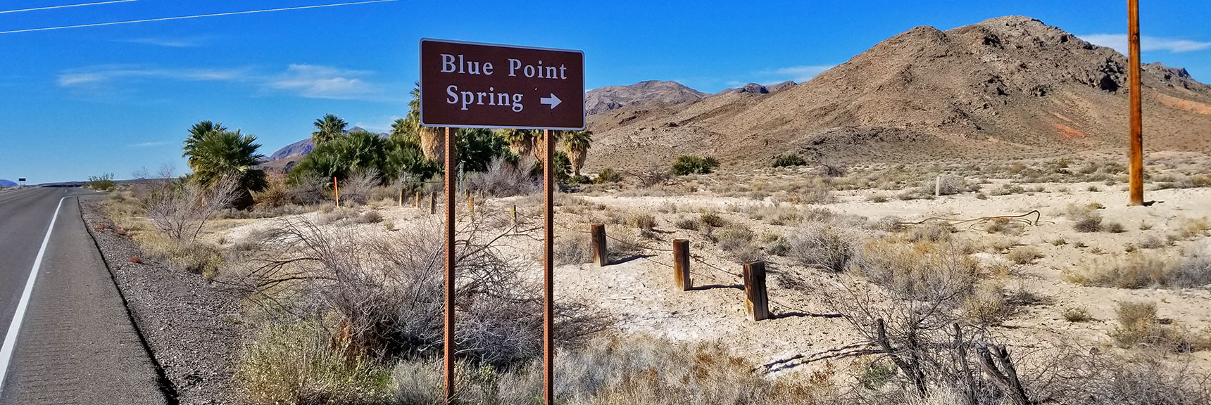 Blue Point Spring On Northshore Road in Lake Mead National Park, Nevada