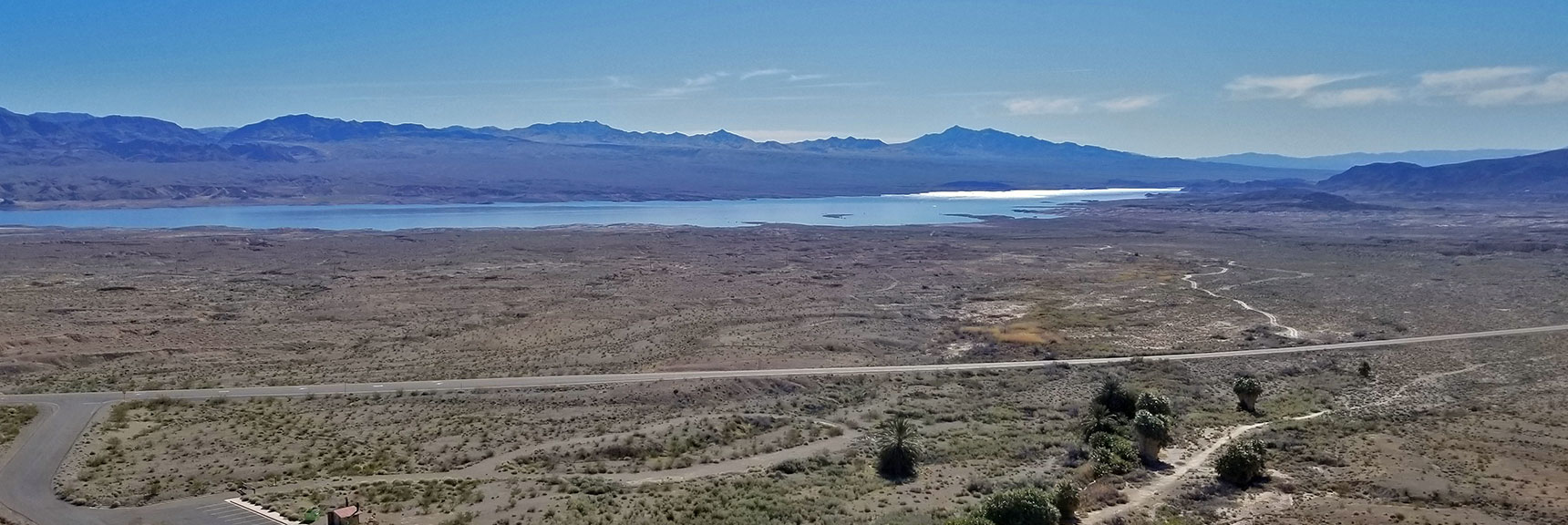 Overton Arm of Lake Mead Viewed from Muddy Mountains Above Roger's Spring On Northshore Road in Lake Mead National Park, Nevada