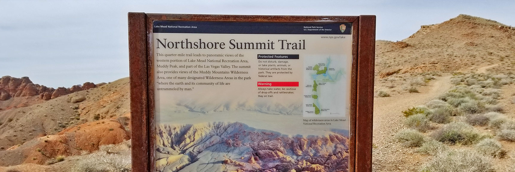 Northshore Summit Trail On Northshore Road in Lake Mead National Park, Nevada