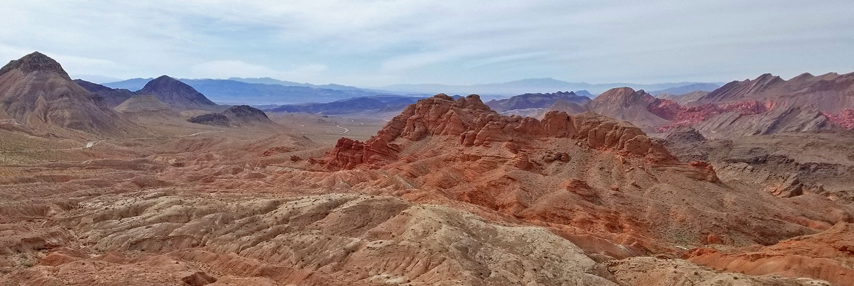 View from Summit of Northshore Summit Trail On Northshore Road in Lake Mead National Park, Nevada