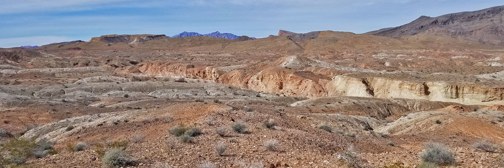 Muddy Mountains and Echo Wash Badlands Area from About Mile 34 On Northshore Road in Lake Mead National Park, Nevada