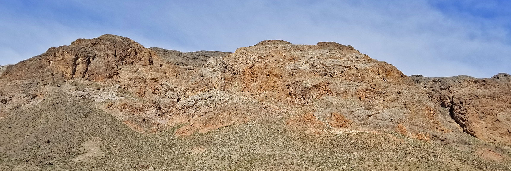Mideastern View of Muddy Mountains from Echo Road Intersection On Northshore Road in Lake Mead National Park, Nevada