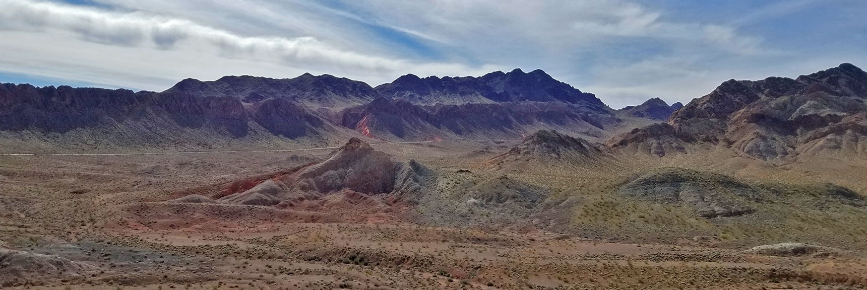 Black Mountains, Jimbalnan Wilderness Area from About Mile 32 On Northshore Road in Lake Mead National Park, Nevada