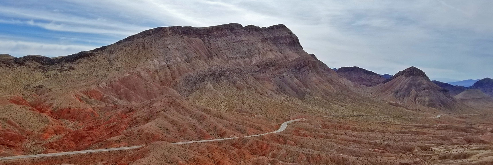 View of Muddy Mts from Northshore Summit Trail High Point at Mile 20.6 on Northshore Road in Lake Mead National Park