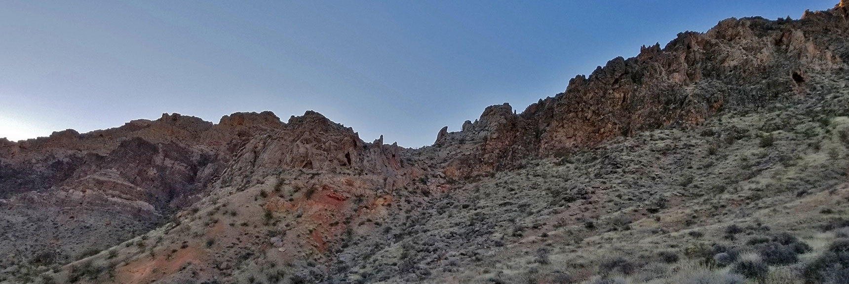 The Pass Above Old Arrowhead Trailhead, Entering Into the Muddy Mountains Wilderness, Nevada