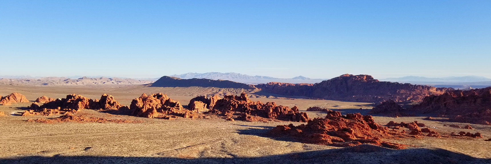 Valley of Fire State Park at Sunrise From the Muddy Mountains Wilderness, Nevada