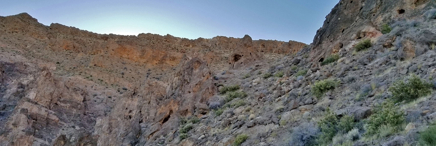 Pass in the Second Northern Ridge System in the Muddy Mountains Wilderness, Nevada