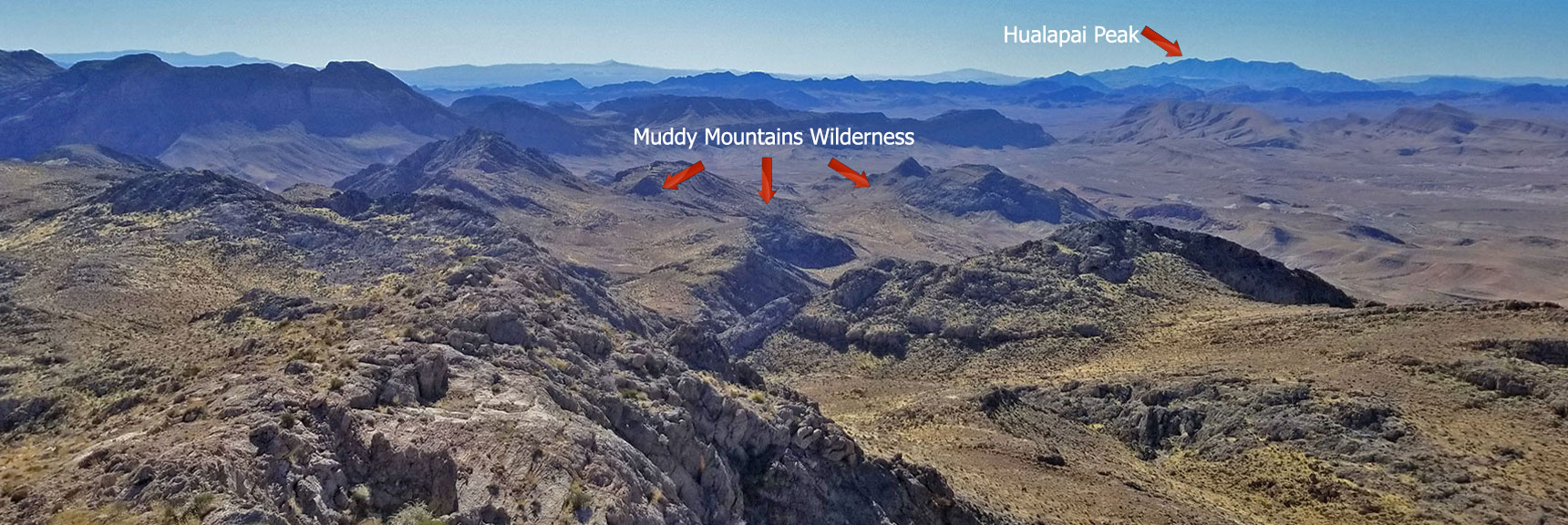 Muddy Mountains Wilderness NW High Point Panorama Slide 6