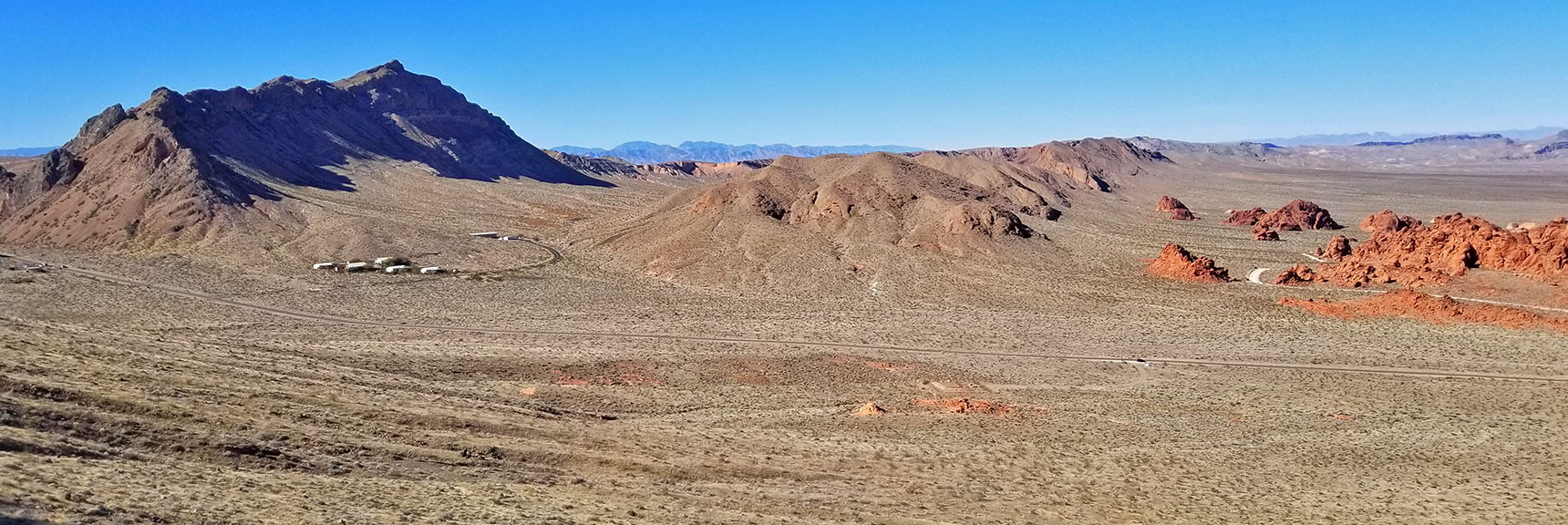 Tip of Arch Rock Area   Valley of Fire State Park, Nevada Panorama Slide 001