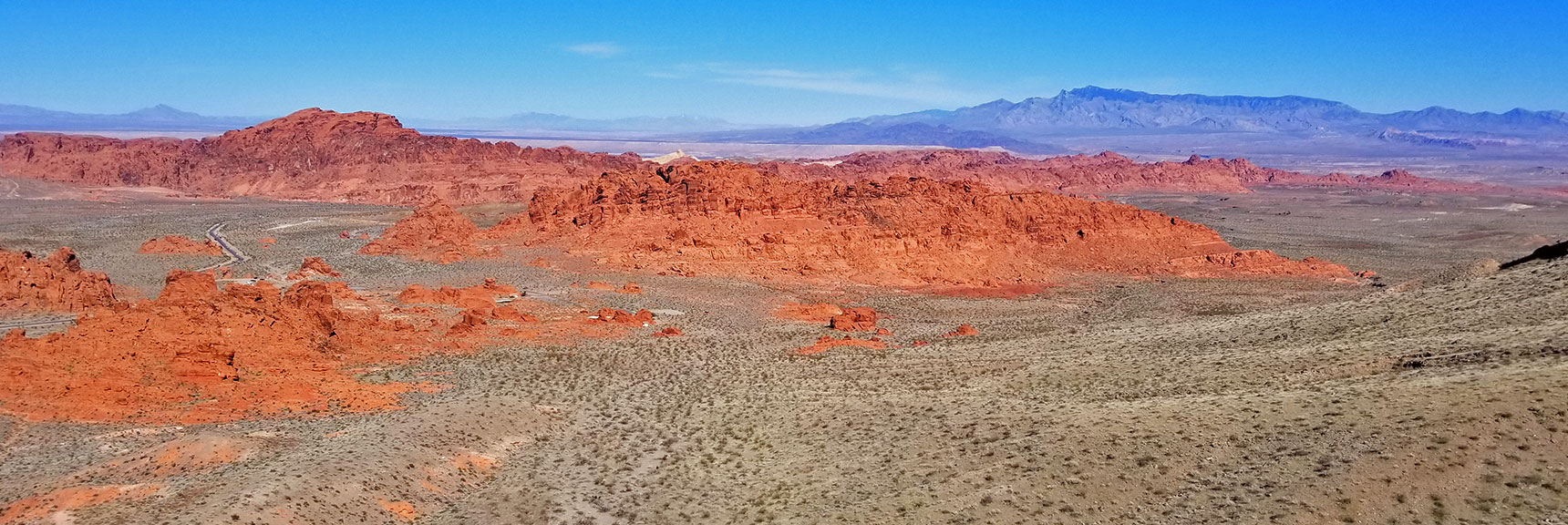 View Toward the Eastern End of the Park | Valley of Fire State Park, Nevada Panorama
