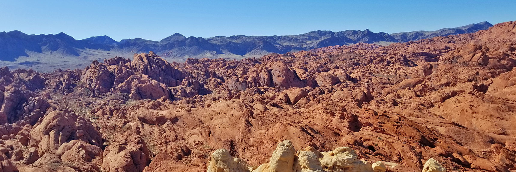 View to the Northwest from Silica Dome Summit in Valley of Fire State Park, Nevada