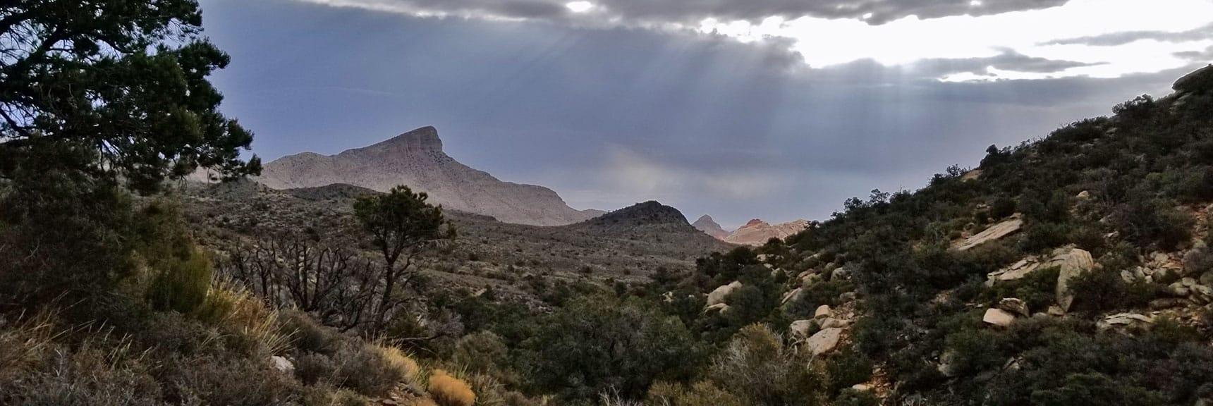 Looking Back at Turtlehead Peak From White Rock Mountain Loop in Red Rock Park, Nevada