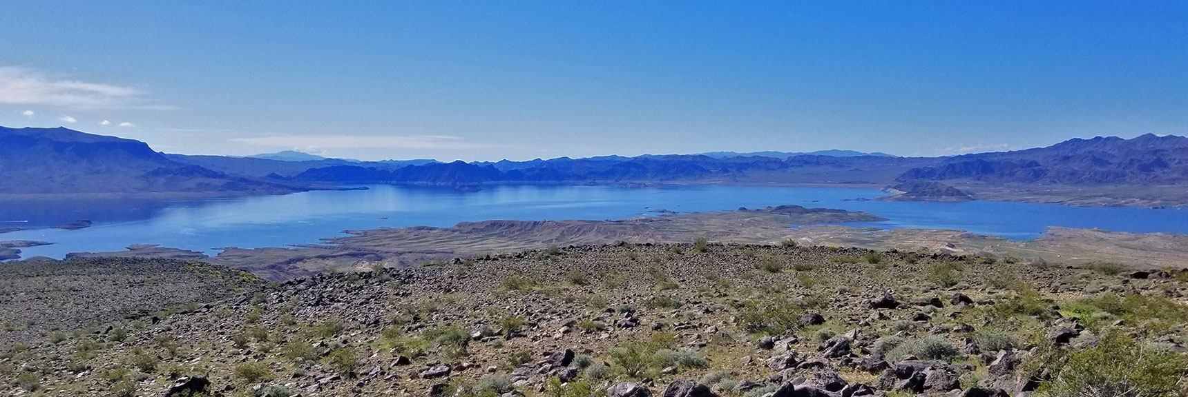 View of Lake Mead from Summit of Black Mesa in Lake Mead National Recreation Area, Nevada