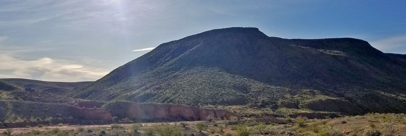 View of North Western Side of Black Mesa in Lake Mead National Recreation Area, Nevada