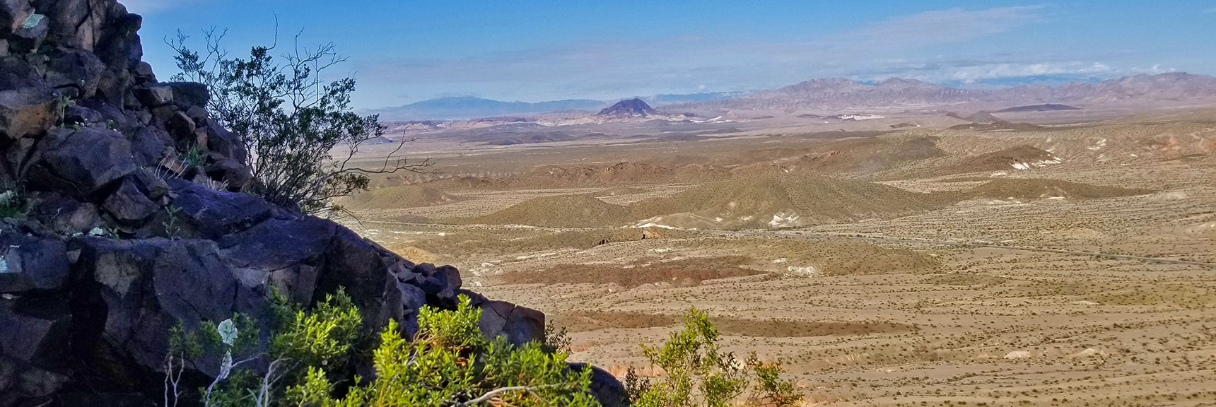 View While Ascending North Western Side of Black Mesa in Lake Mead National Recreation Area, Nevada