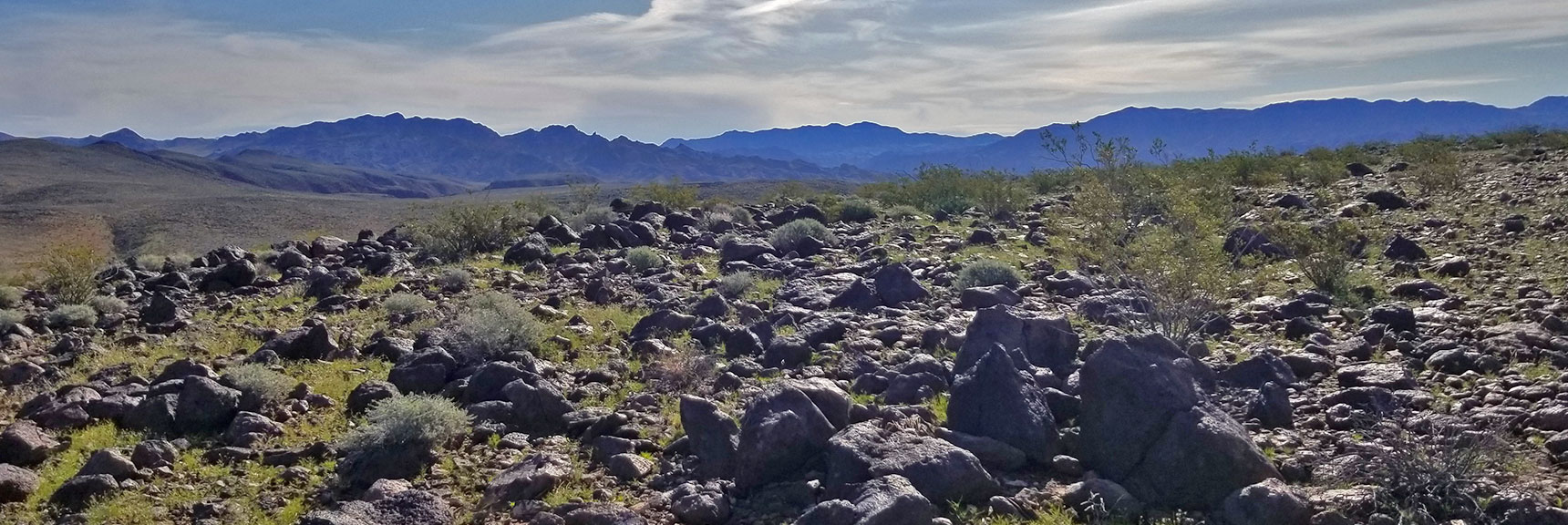 First View of Summit After Ascending North Western Side of Black Mesa in Lake Mead National Recreation Area, Nevada