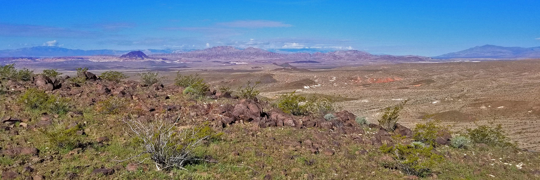 View West Toward Frenchman Mountain from Black Mesa in Lake Mead National Recreation Area, Nevada