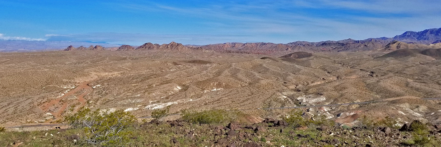 View North Toward Muddy Mountains From Black Mesa in Lake Mead National Recreation Area, Nevada