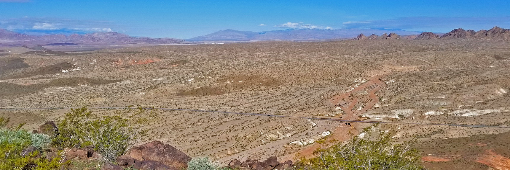 View Northwest Toward Gass Peak from Black Mesa in Lake Mead National Recreation Area, Nevada