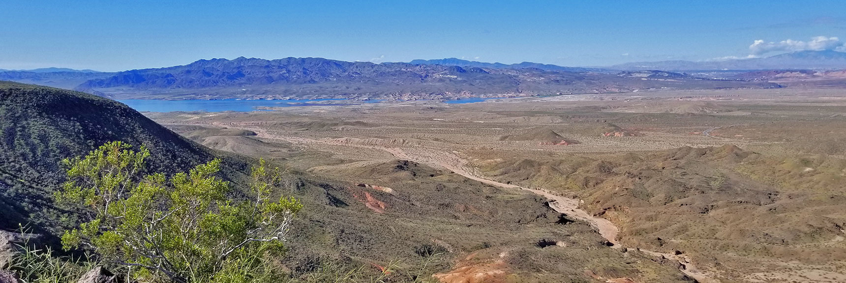 View Southwest Toward Lake Mead from Black Mesa in Lake Mead National Recreation Area, Nevada