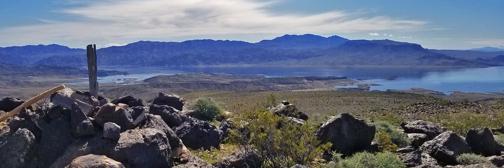 View of Lake Mead from Black Mesa in Lake Mead National Recreation Area, Nevada