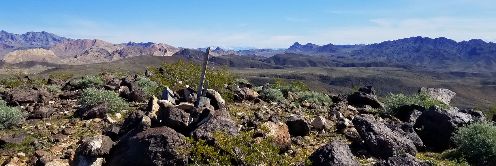View Toward Jimbilnan Wilderness and Muddy Mountains from Black Mesa in Lake Mead National Recreation Area, Nevada