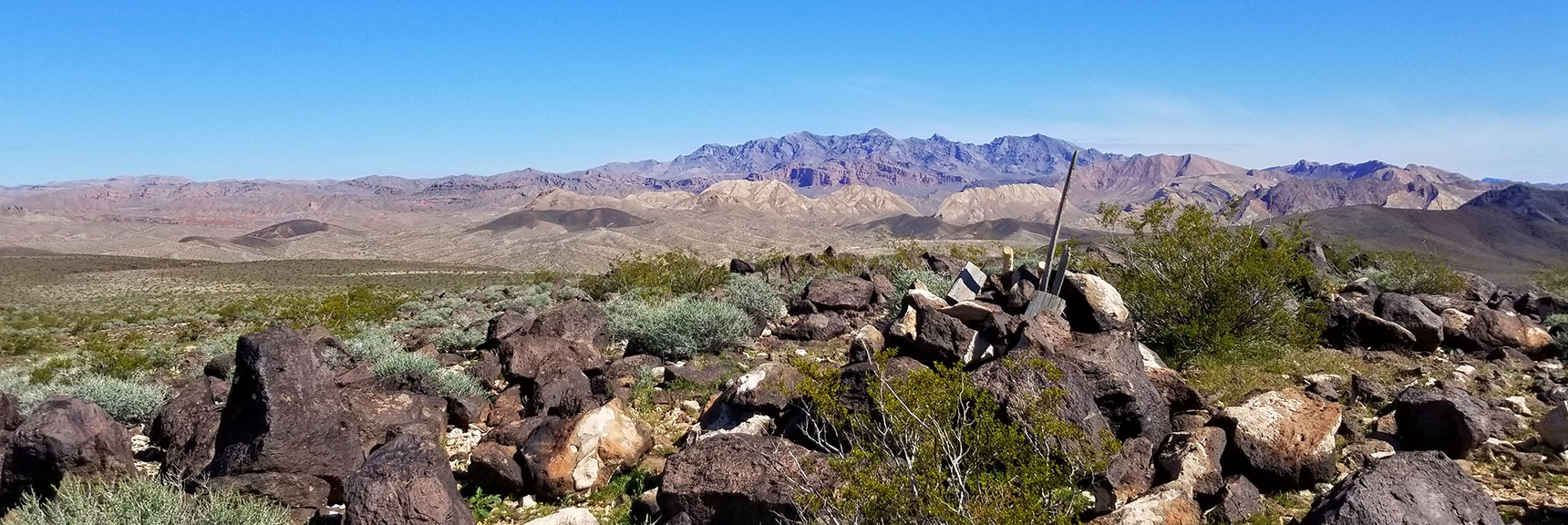 View Toward Muddy Mountains from Black Mesa in Lake Mead National Recreation Area, Nevada