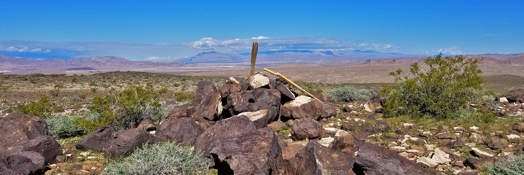View Toward Gass Peak from Black Mesa in Lake Mead National Recreation Area, Nevada