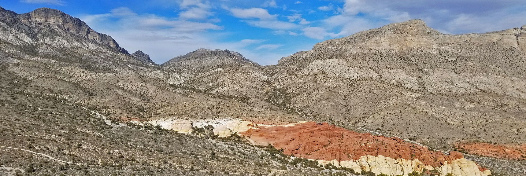 Upper Calico Hills and Damsel Peak in Calico Basin, Nevada